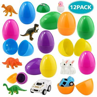 Betheaces Easter Eggs Filled Plastic Decor Easter Theme Party Favor Classroom - Classroom Theme Decorations