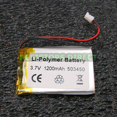Lithium Ion Polymer 3.7v Rechargeable Battery 1200mah Project Arduino Lipoly Y25