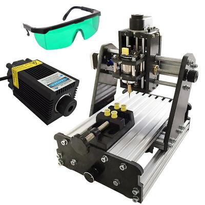 Diy Mini 3 Axis Cnc Router Wood Pcb Milling Engraving Machine2500mw Lasermodule