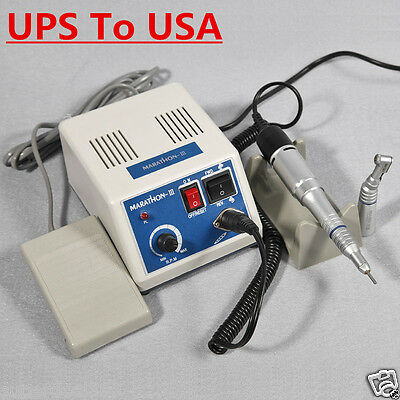 Dental Lab Electric Micromotor Marathon 35k Rpm Motor Contra Angle Straight