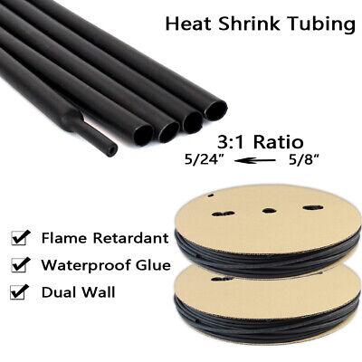58 Heat Shrink Tubing 31 Adhesive-lined Heat Shrinkable Tube Waterproof 14 Ft