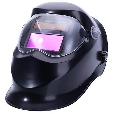 Auto Darkening Pro Solar Welding Helmet Arc Tig Mig Grinding Welder Mask Black