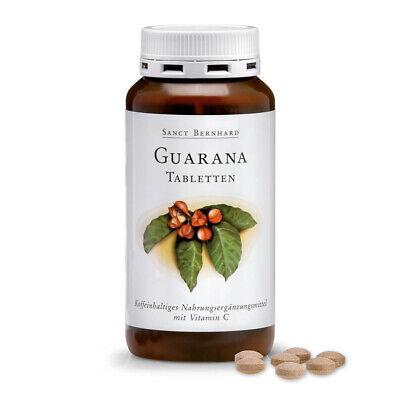 Sanct Bernhard Guarana-Tabletten | Inhalt 250 Tabletten | Für Körper und Geist