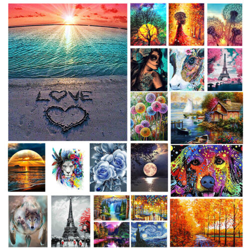 Full Drill Round Rhinestone Craft Canvas for Home Gift Wall Decor 12x16 inch GIEAAO 5D Diamond Painting Kit DIY Oil Painting Deer k6G-18