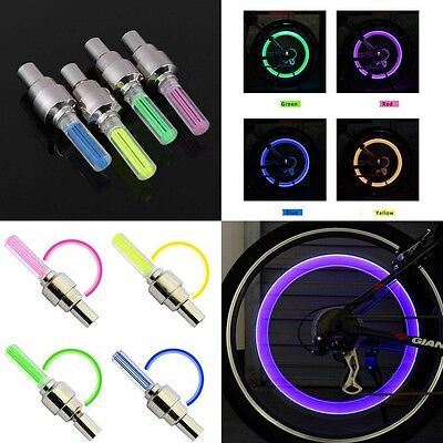 LOT 2x 4x 10x LED Bike Valve Stem Cap Flashing Light Bicycle Wheel Tire Tyre Car