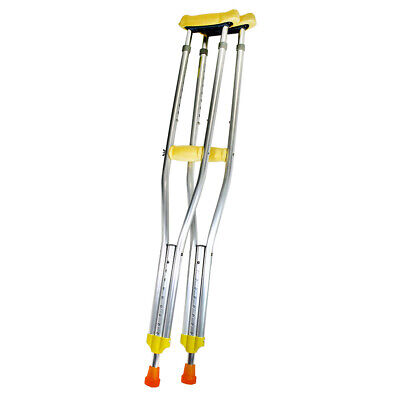 2 Heavy Duty Light Tall Adjustable Height Aluminum Crutches