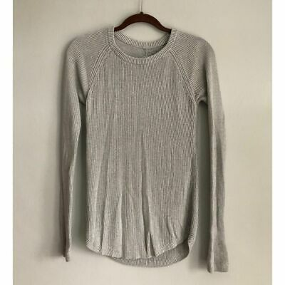 Lululemon Cabin Yogi Sweater Heathered Grey No Size Tag