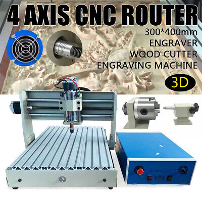 4 Axis Cnc 3040 Router Engraver Pcb Wood Engraving Mill Drill Cutting Machine