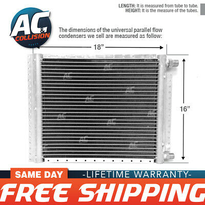 CNFP1618 AC A/C  Universal Condenser Parallel Flow 16 x 18 O-ring #6 And #8