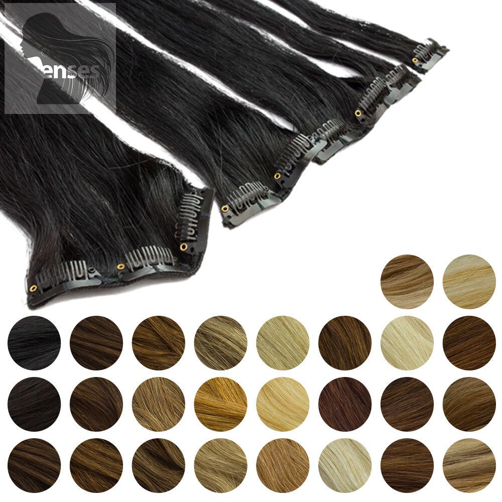 Clip In Extensions Clip On Haarteile 45 cm 60 cm Indisches Remy 100% Echthaar