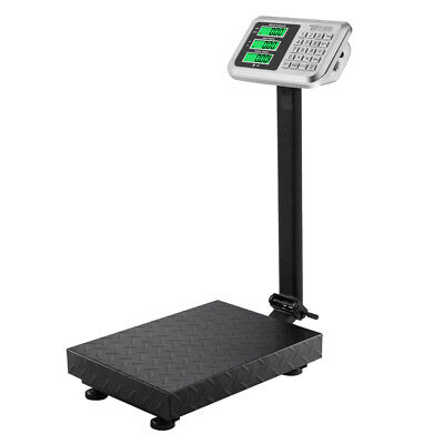 220lb 100kg100g Digital Shipping Postal Scale Backlit Lcd Floor Steel Platform
