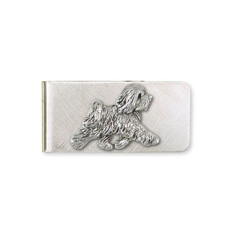 Tibetan Terrier Money Clip Jewelry Sterling Silver Handmade Dog Money Clip TTR-M