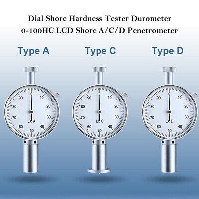 Dial Shore Acd Penetrometer Sclerometer Durometer 0-100hc Lcd For Tire Plastic
