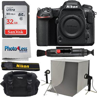 Nikon D500 DSLR Camera 20.9MP DX-Format Body + Photo Lighting Kit + 32gb Bundle for sale  Shipping to Canada