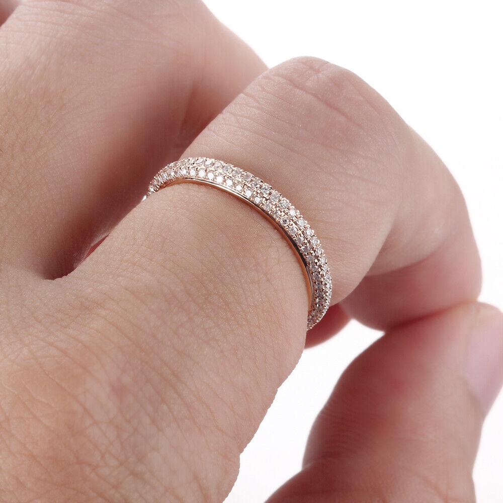 14k Rose Gold Round Diamonds Band Filigree Engagement Wedding Ring ...