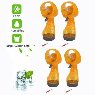 4x Battery Operated Handheld Water Misting Fan Spray Cooling Portable Mister FL - Handheld Battery Operated Fans