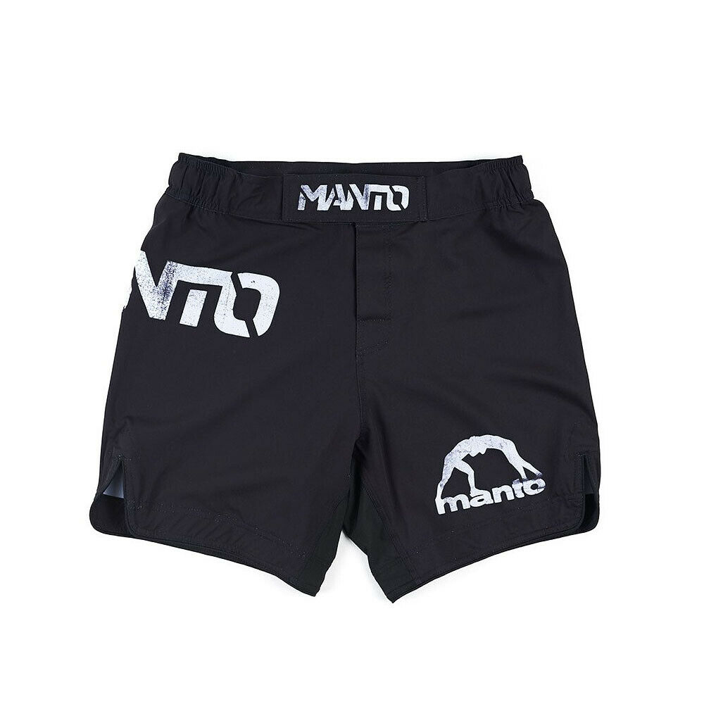 Manto Stripe Fight Shorts Navy Blue Red No-Gi Jiu Jitsu Grappling Training MMA