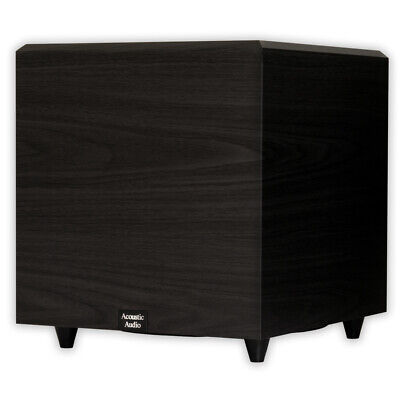 """Acoustic Audio PSW12 Home Theater Powered 12"""" Subwoofer Black Down Firing Sub"""