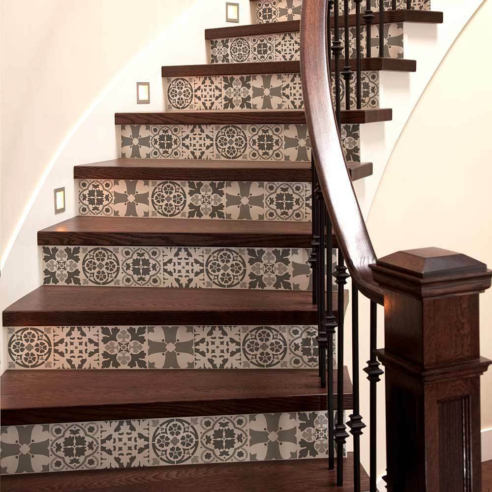 tile stencil set - size: medium - diy home decor - reusable stencils