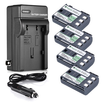 NB-2LH NB-2L Battery & Charger for Canon Rebel XT XTi EOS 350D PowerShot
