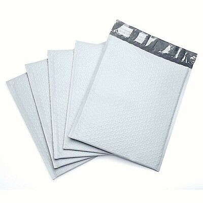 Durable Padded Envelopes 10.5x16 Bubble Wrap Mailers Large White Poly Bags 5