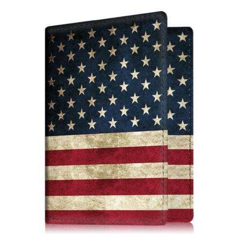 Premium Vegan Leather Travel Passport Holder RFID Blocking Cards Case Cover