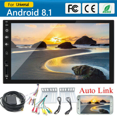 "Double 2Din Car Stereo Android8.1 GPS MP3 Player 7"" HD InDas"