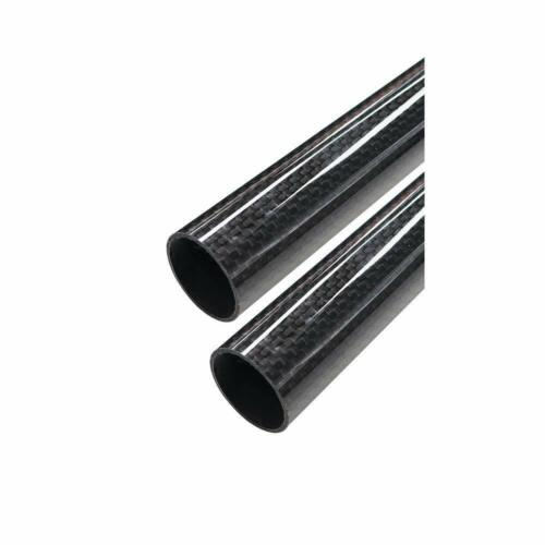 ARRIS 30mm Outer Dia. 28mm x 30mm x 500mm 3K Roll Wrapped 100% Carbon Fiber Tube