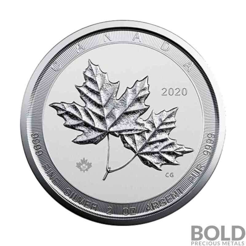 2020 Canadian Twin Maples 2 oz Silver BU