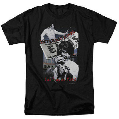Elvis Presley International Hotel Legend Classic Music T Shirt Tee