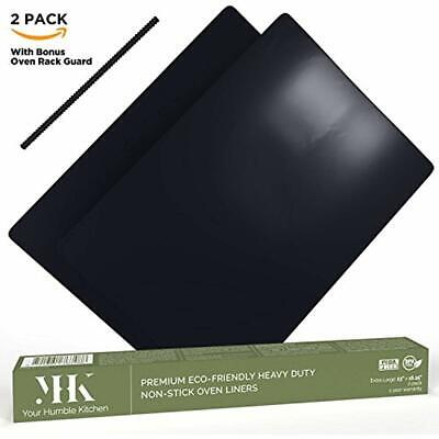 YHK 2 Pack Large Non-Stick Oven Liners Premium Heavy Duty Fo