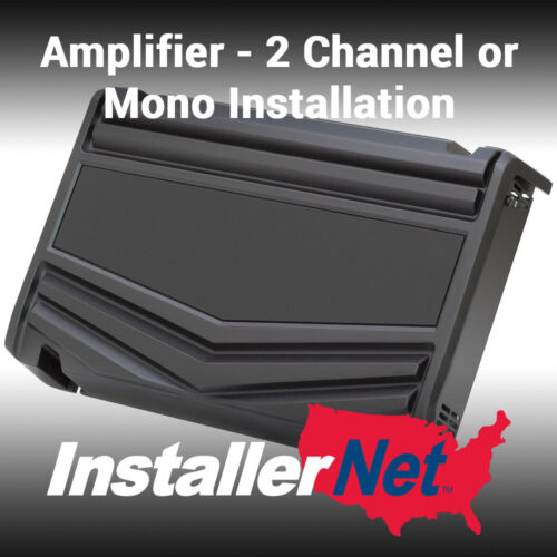 Car Amplifier Installation from InstallerNet - 2 channels - Lifetime Warranty