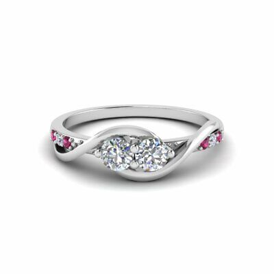 two stone engagement ring 0 35 ct