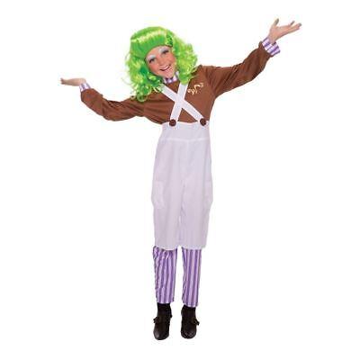 Childrens Umpa Lumpa Chocolate Factory Worker TV Film Wonka Fancy Dress Costume