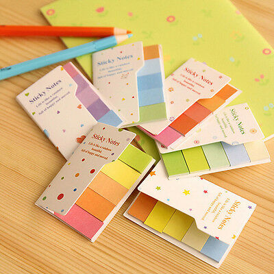 90 Pages Rainbow Sticker Post-it Bookmark Point Marker Memo Flags Sticky Notes