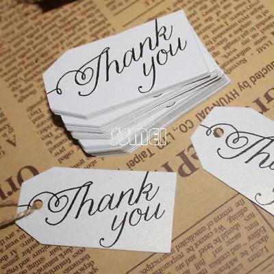 Wholesale 100pcsbag Paper Label Tag Word Thank You Clothes Jewelry Price Tag