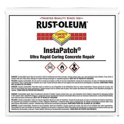 Rustoleum 288395 Gray Instapatch Concrete Saver Repair 16 Oz. Kit