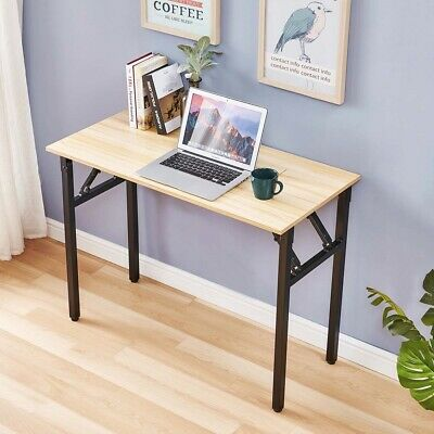 Folding Computer Desk Home Office Study Workstation Pc Laptop Table Space Saving