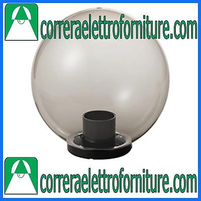 MARECO 1080501F Lampione globo illuminazione giardino esterno SFERA 400 mm fume