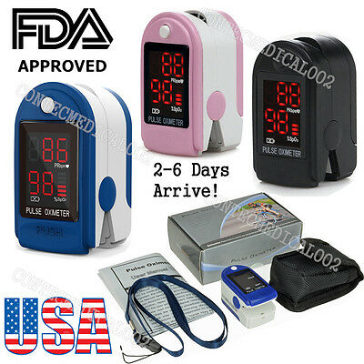 LED HEART PULSE RATE BLOOD OXYGEN SENSOR PATIENT MONITOR SPO2 FINGER OXI METER