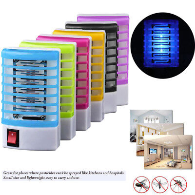 (LED Socket Electric Mosquito Fly Bug Insect Trap Killer Zapper Night Lamp Lights)