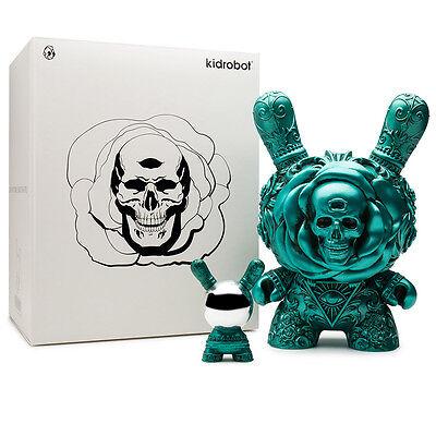 "The Clairvoyant Teal 8"" Dunny Vinyl Figure (Kidrobot x JRYU) Arcane Divination"