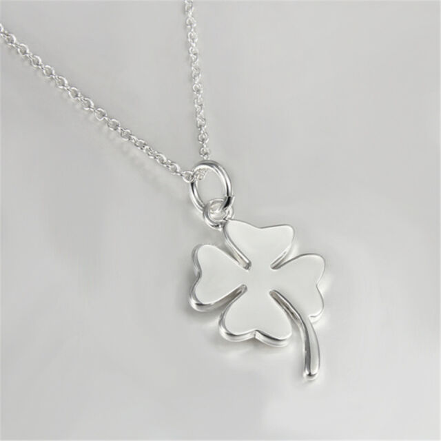 Four leaf clover pendant necklace plated jewelry women 925 sterling four leaf clover pendant necklace plated jewelry women 925 sterling silver gift aloadofball Choice Image