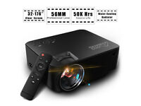 AS NEW,GooBang Doo T20 -1500 Lumens,Portable Mini Video Projector 1080P