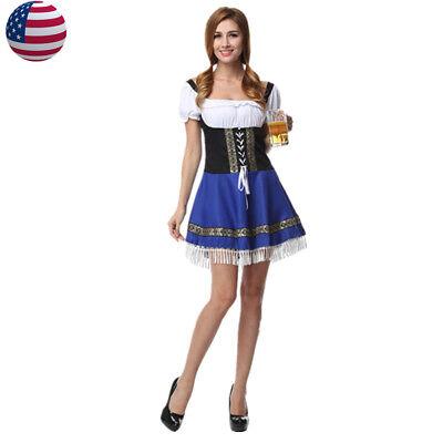 German Oktoberfest Beer Wench Costume Bavarian Girl Fancy Dress](Beer Wench Dress)
