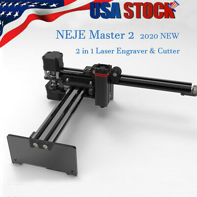 Neje Master 2 20w Cnc Engraving Milling Machine Engraver Cutter Printer Us Y4s0