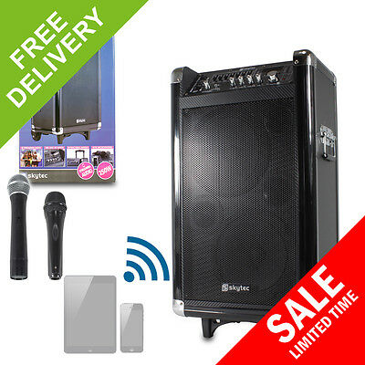 Skytec ST075 BUSKER Portable Battery Powered Active PA Speaker Radio Microphone