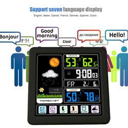 Digital Wireless Weather Station Sensor Indoor Outdoor Barometer Humidity Alarm