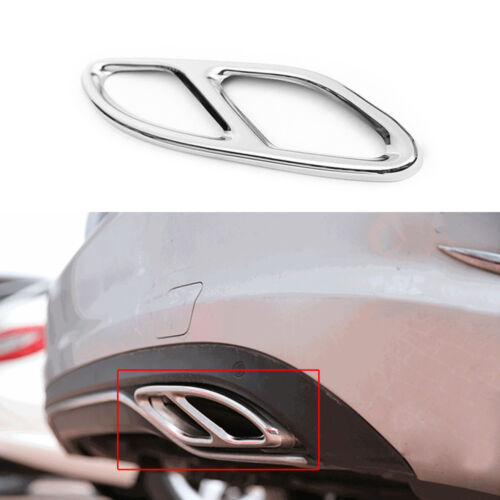 abb 2*Rear cylinder exhaust pipe Cover Trim For Mercedes-Benz E-Class W212 W213