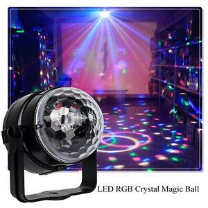 New Disco Party DJ Decor Ball Stage Light Club Magic RGB Rotating LED Light Lamp